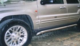 Jeep Grand Cherokee rury progowe