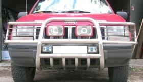 Jeep rura przednia z osłoną świateł i miski
