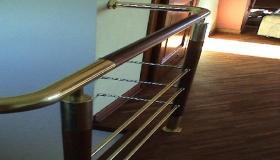 balustrada widok łączenia z drewnem