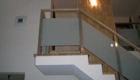 balustrada szkło matowe